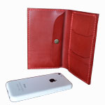 ビジネスiPhoneケース(紙幣・領収書スペース & 名刺入れポケット)<br />Business iPhone Case (with space for notes,receipts & Business Card pockets)